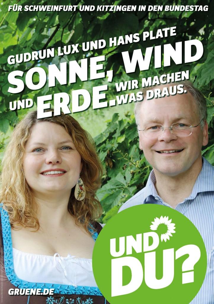 Unser Wahlplakat zur Bundestagswahl 2013.