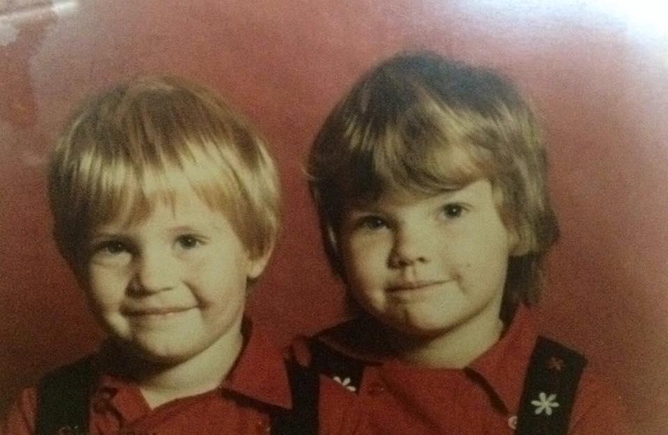 Mein Bruder und ich, ca. 1985.